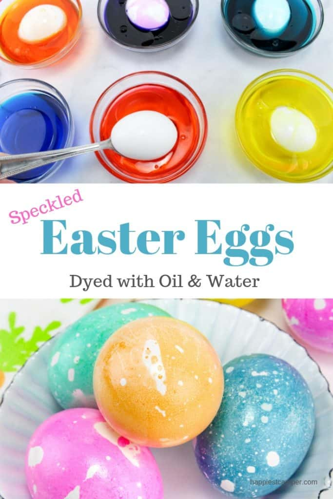 Oil & Water Dyed Easter Eggs