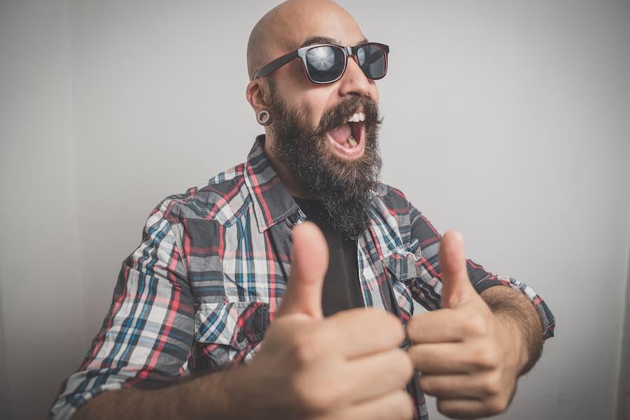 Happy with Beard Balm