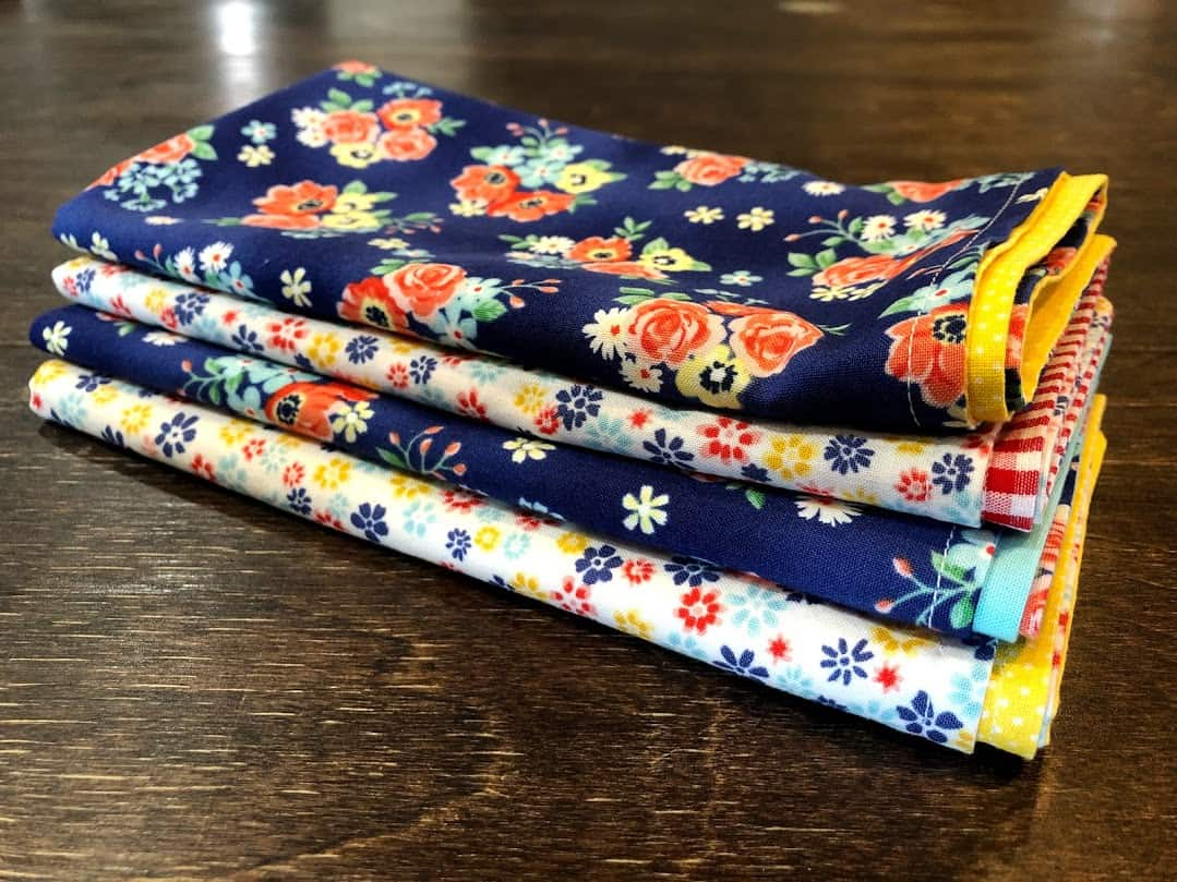 Sewing tutorial: Handmade cloth napkins