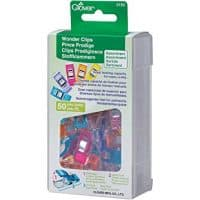 Clover 3183 50-Piece Wonder Clips, Assorted Colors