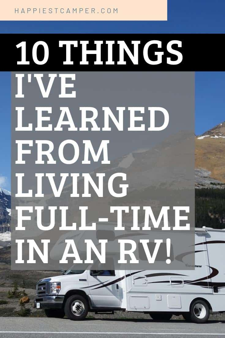10 Things I've Learned from Living Full-Time in an RV!