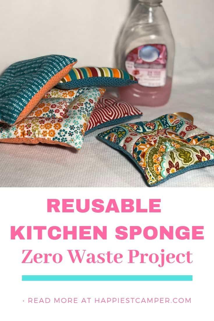 DIY Zero Waste Reusable Kitchen Sponge