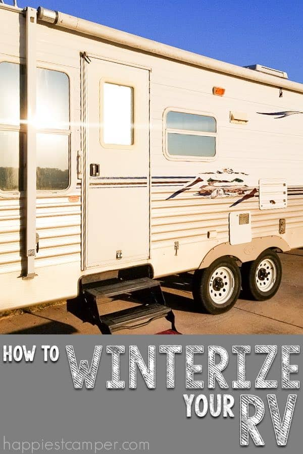 How to Winterize your RV.