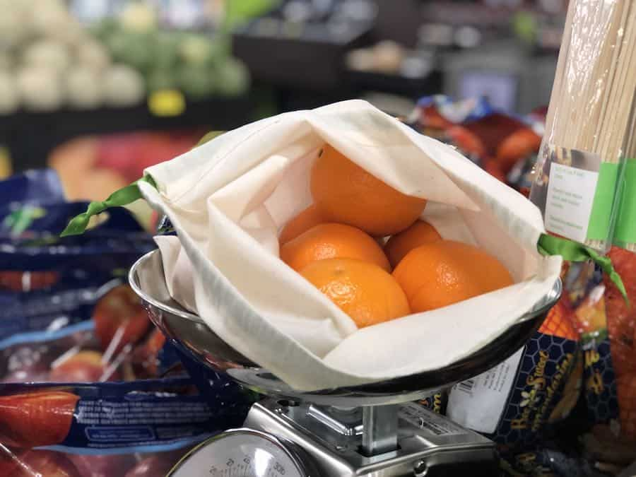 Oranges in Zero-Waste Produce Bags