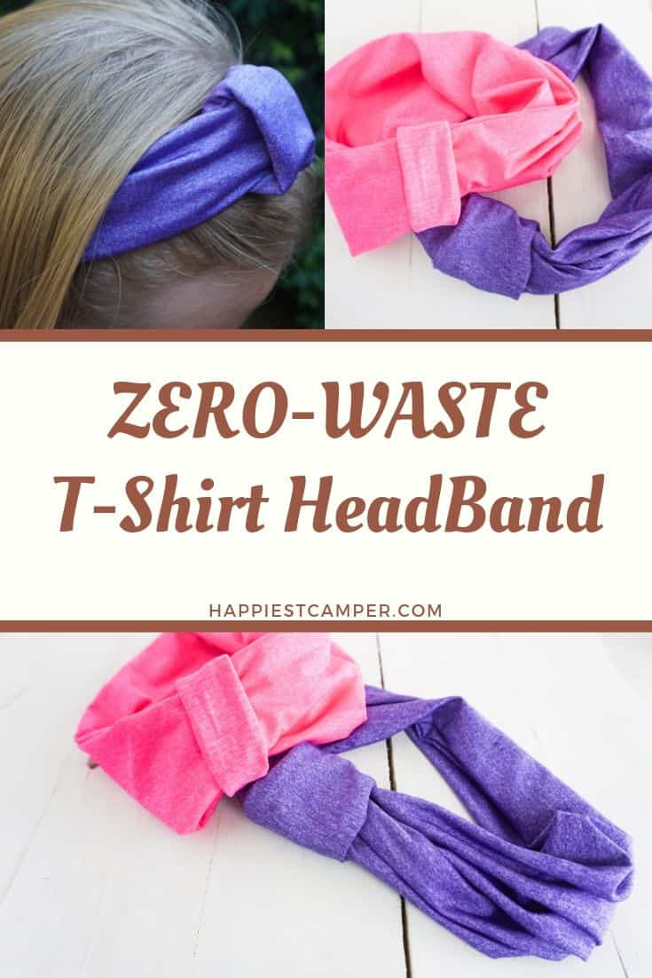 Zero-Waster T-shirt Headband