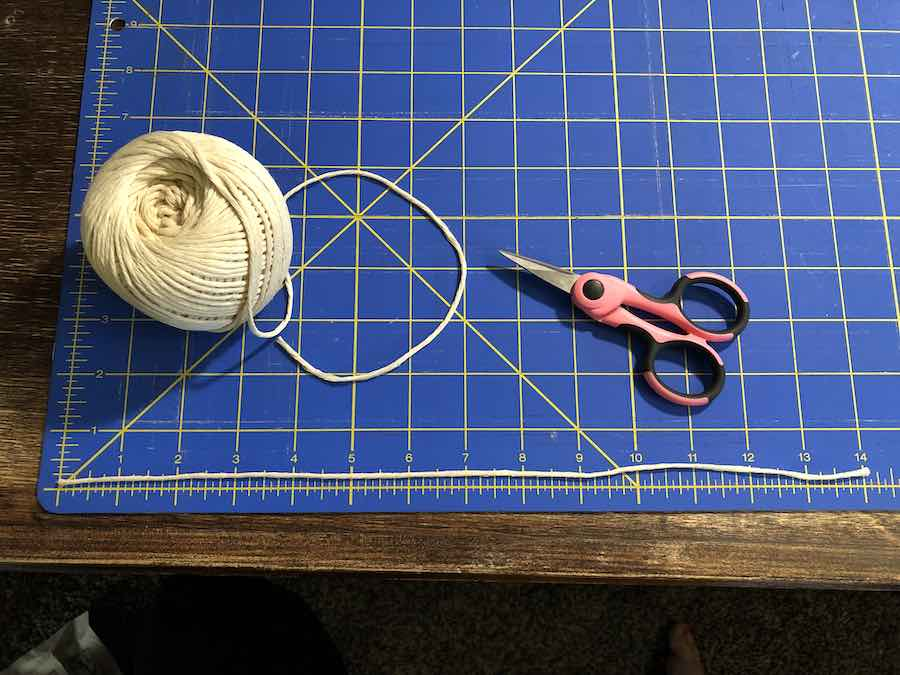 Twine of 14 inches for reusable tea bags