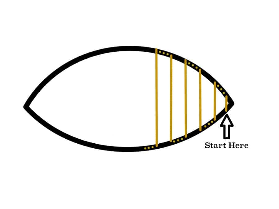 ladder stitch tutorial Drawing