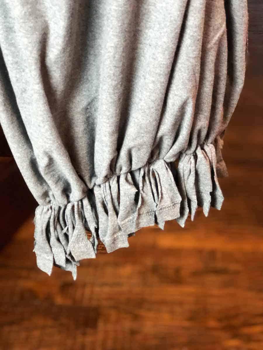 Shirt Bag bottom Tassels