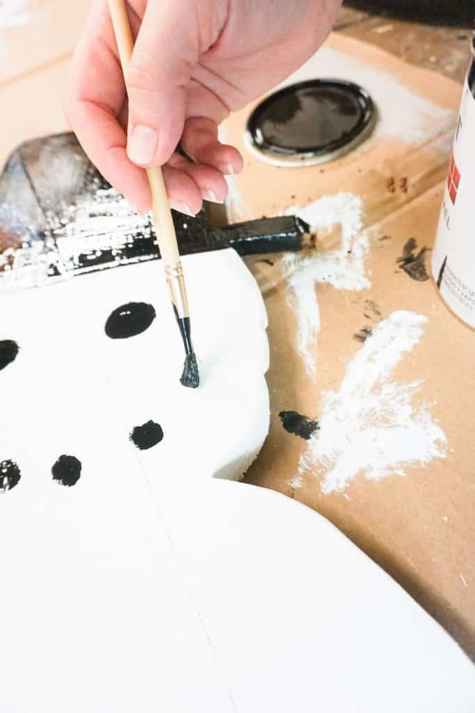 Applying Black Paint