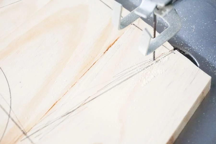 Cutout DIY Wood Snowman