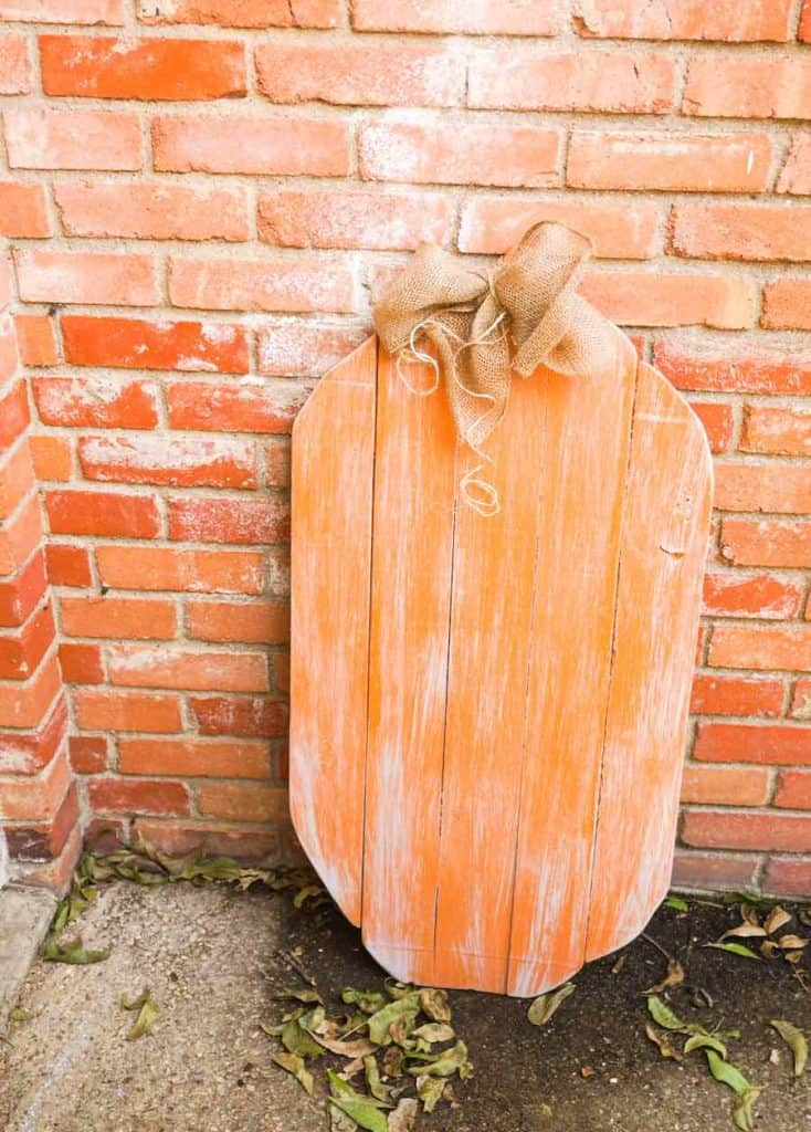 Decorated Wooden Pumpkin for outdoors