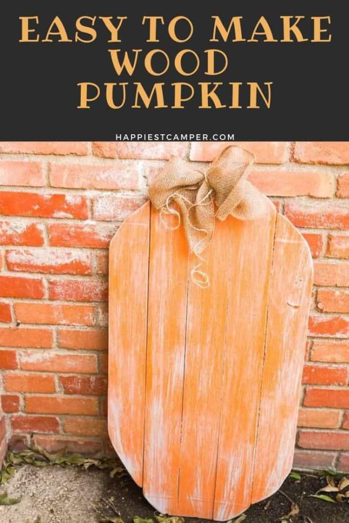 Easy to Make Wood Pumpkin