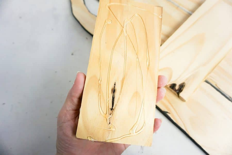 Hot Glue wood