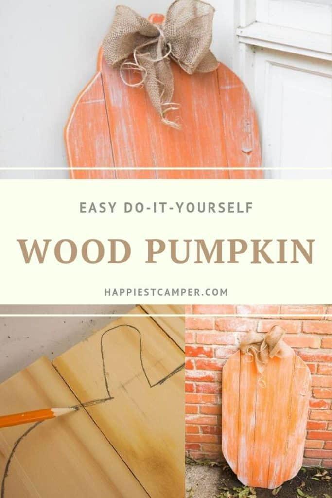 How to Make a Wood Pumpkin