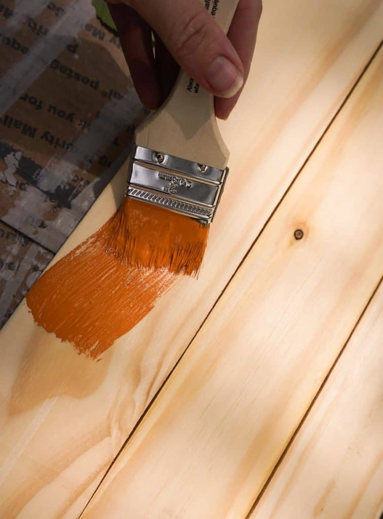 Painting Wood for Pumpkin