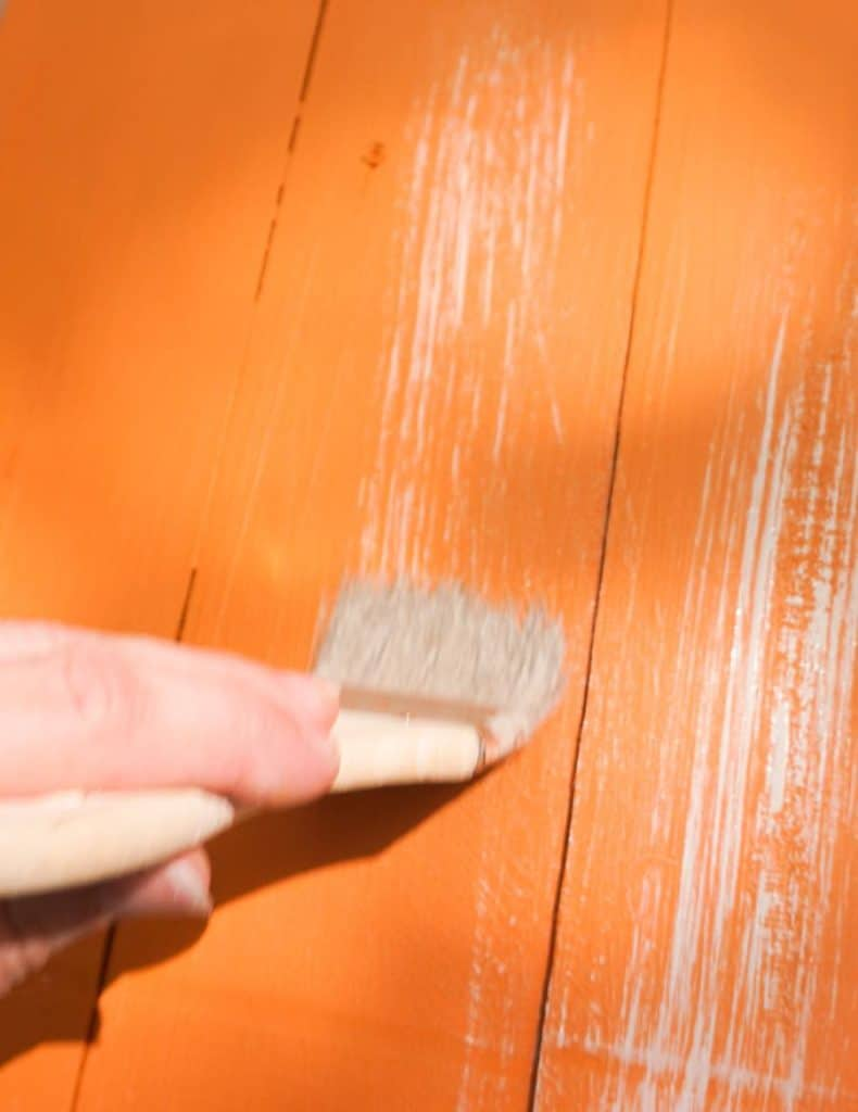 layer of paint and stain