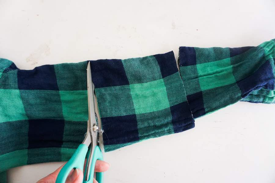 2nd Cut of Flannel Sleeve