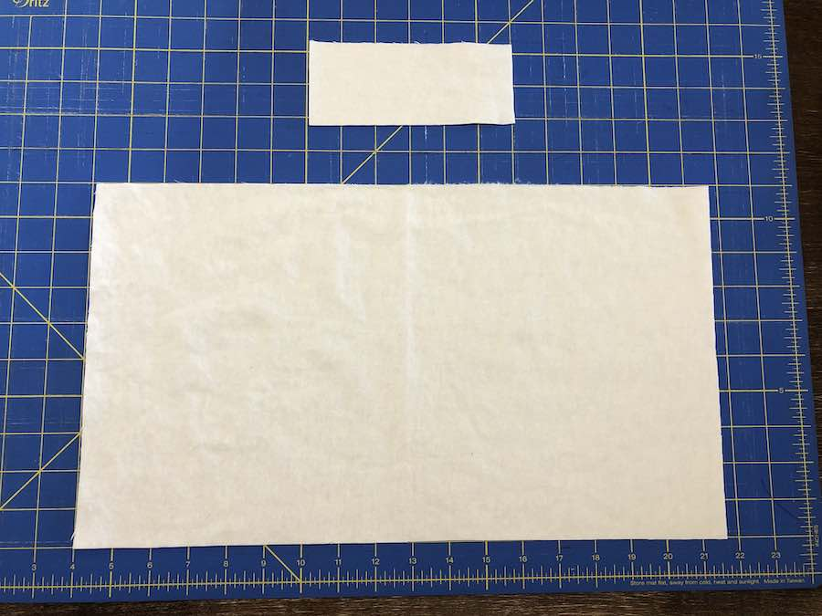 Cut out Rectangles of Coordinating Fabric
