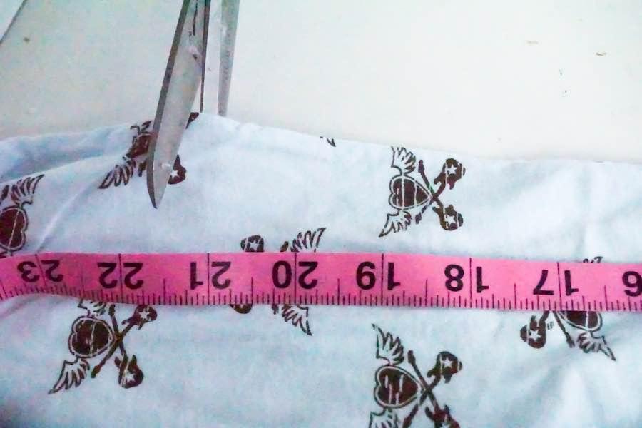 Cutting Scrunchie Fabric