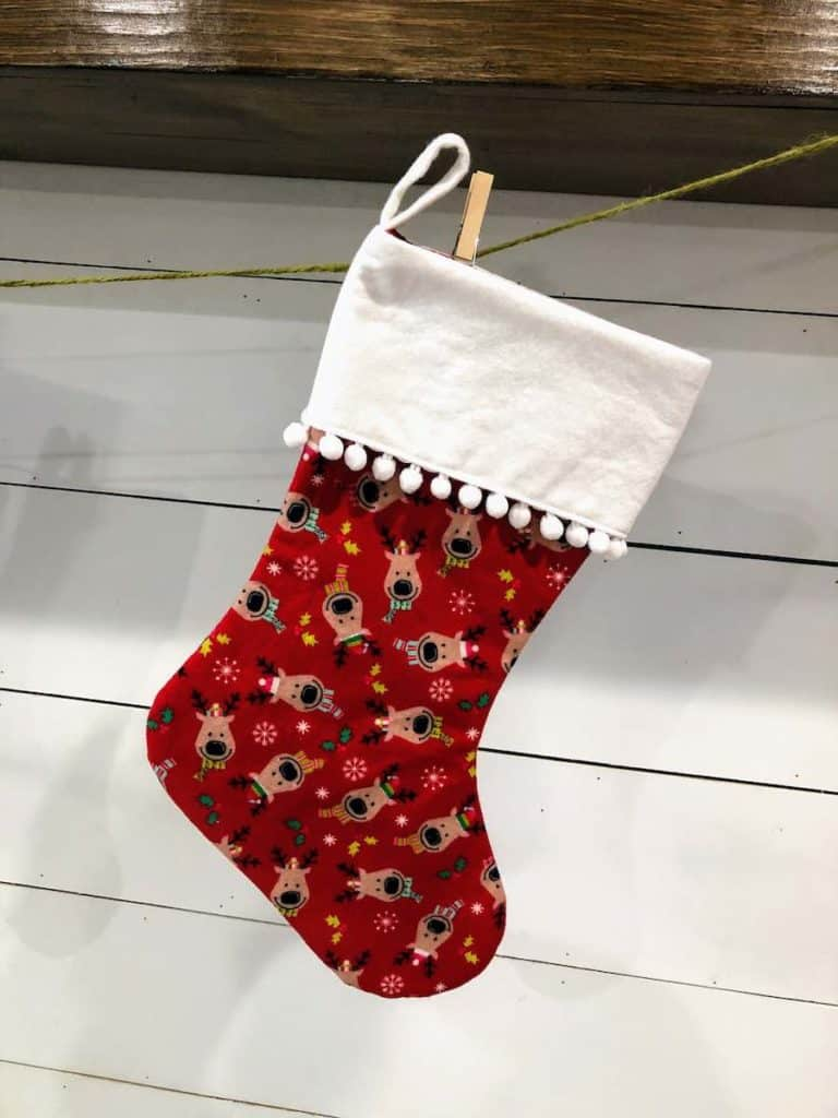 Sewing Complete Christmas Stocking