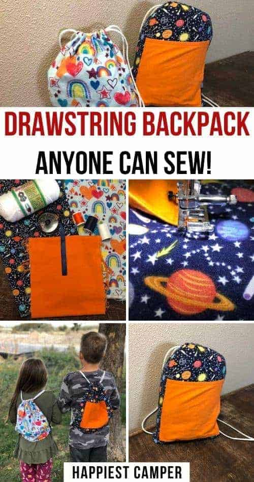 Drawstring Backpack Anyone Can Sew
