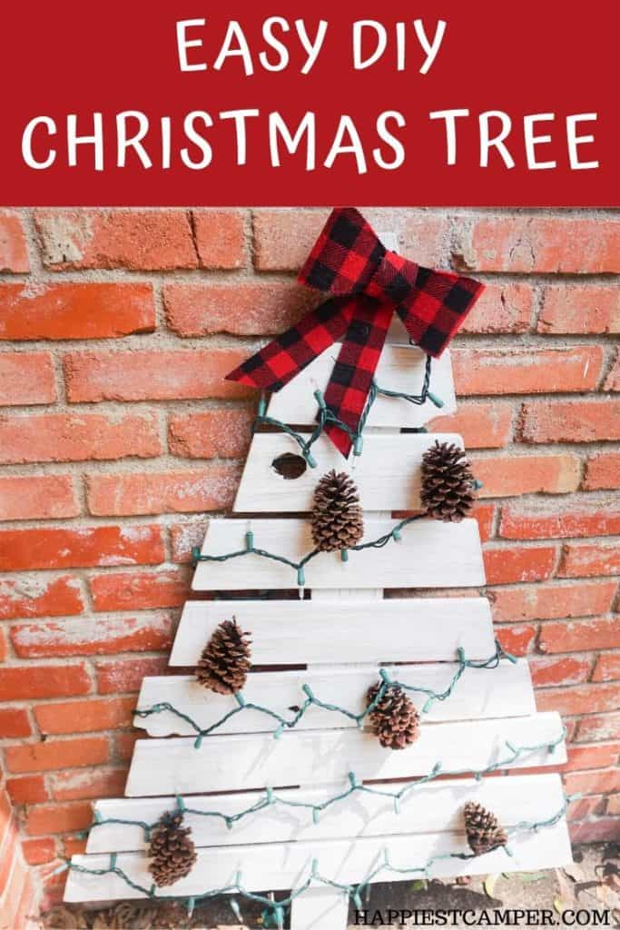 Easy DIY Wood Christmas Tree