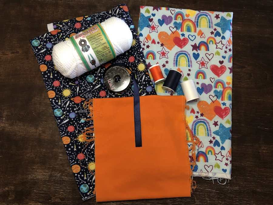 Supplies for Drawstring Backpack with Pocket