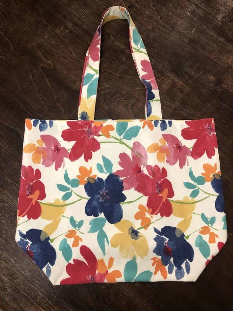 DIY Reusable Grocery Bags Completed