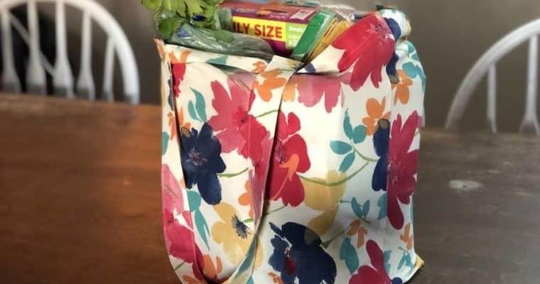 DIY Foldable Reusable Grocery Bags