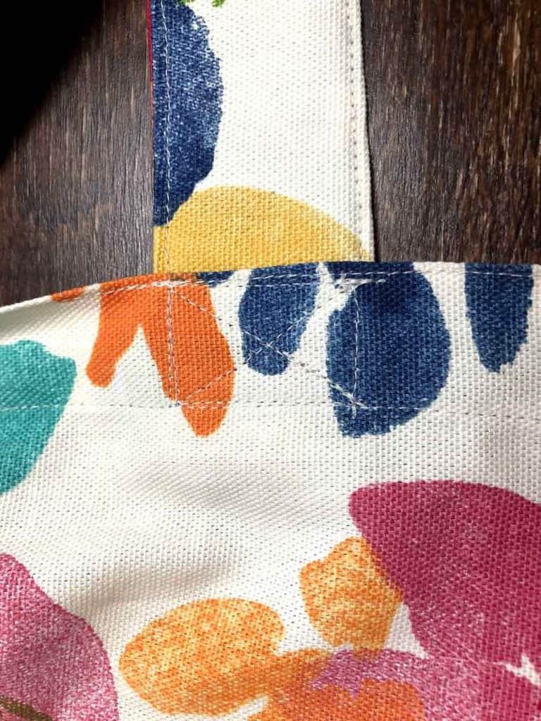 Handle stitched X