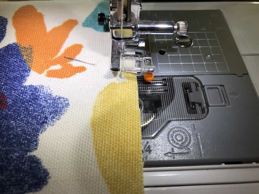 Sew Raw Edges of Grocery Bag