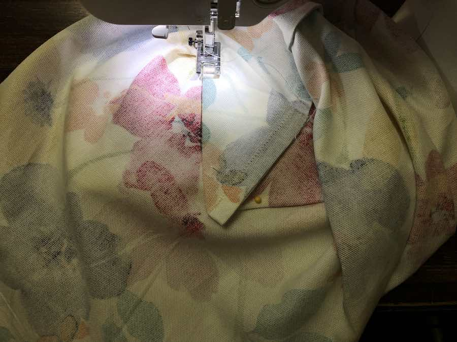 Sewing Down Triangle under Foot