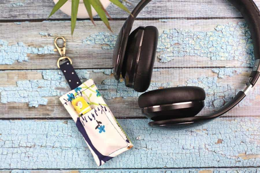 Final product Easy DIY chapstick keychain holder