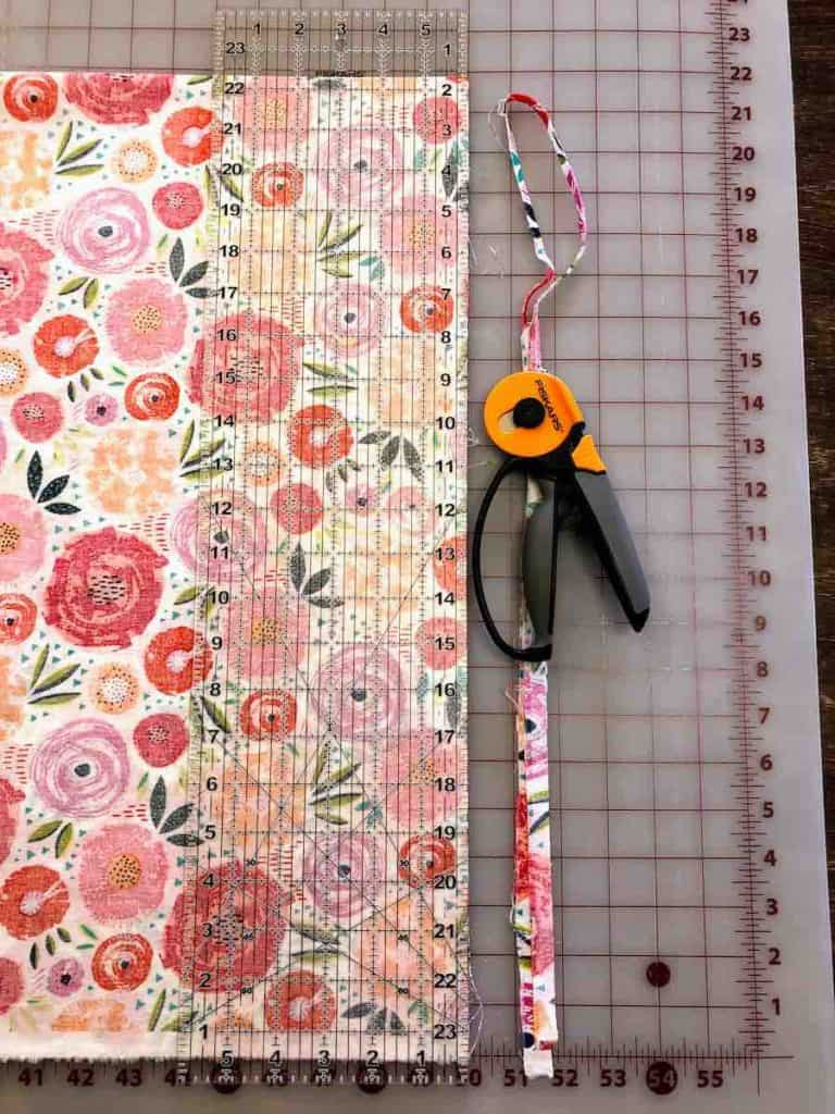 cut your fabric for pillowcase