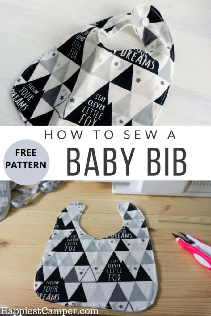 How to Sew a Baby Bib with Free Pattern