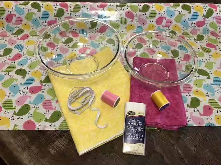 supplies for fabric bowl covers