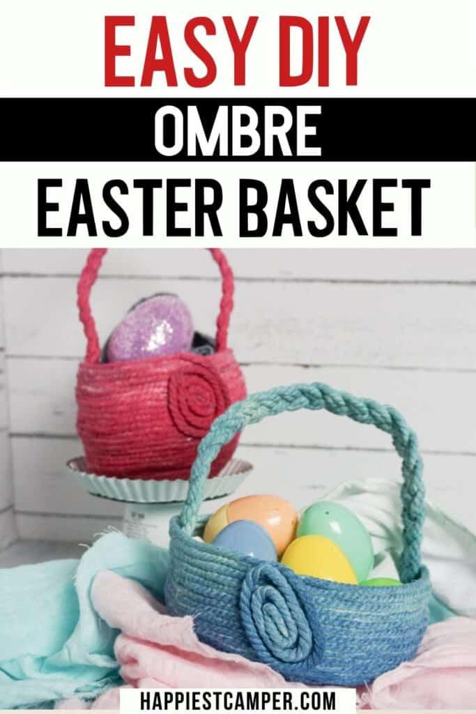 Ombre Easter Basket