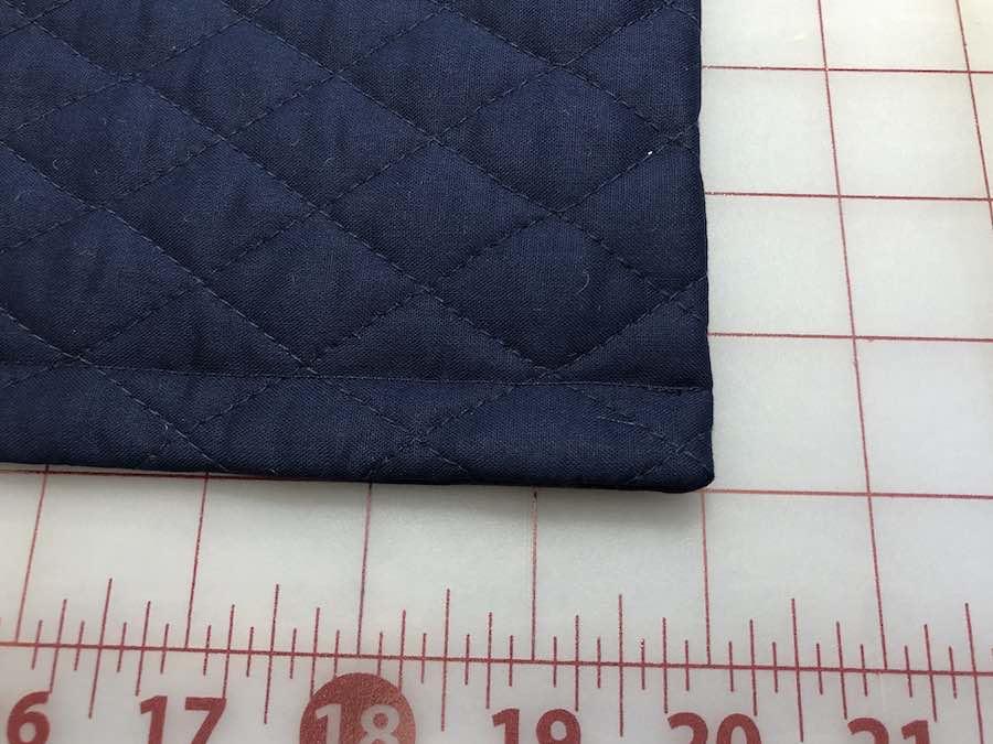Stitch along sides