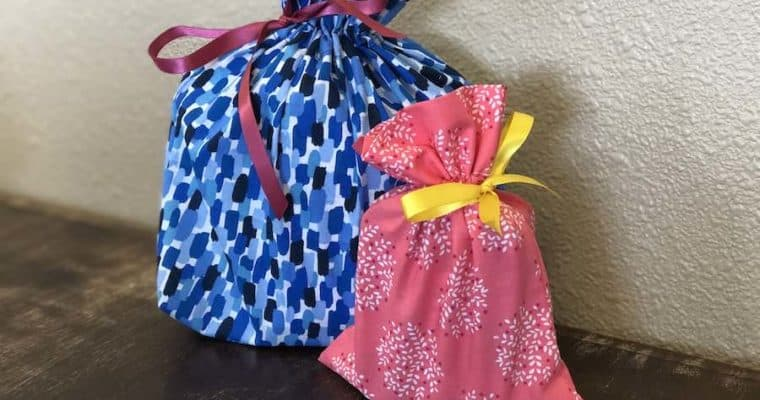 Easy Sew Drawstring Fabric Gift Bag
