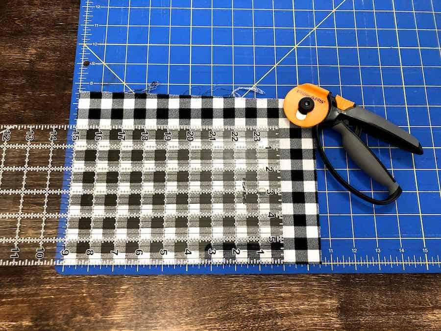 Cutting Fabric checkered