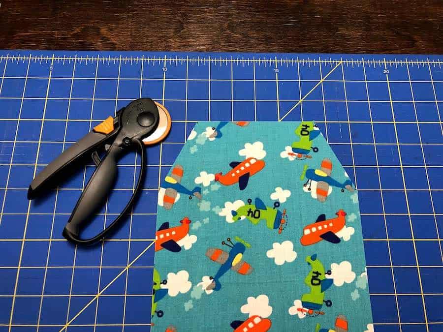 Cutting diaper clutch fabric