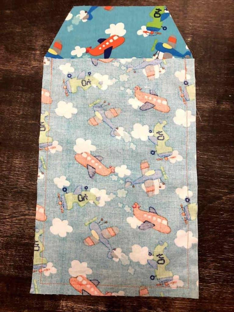 stitch around diaper clutch