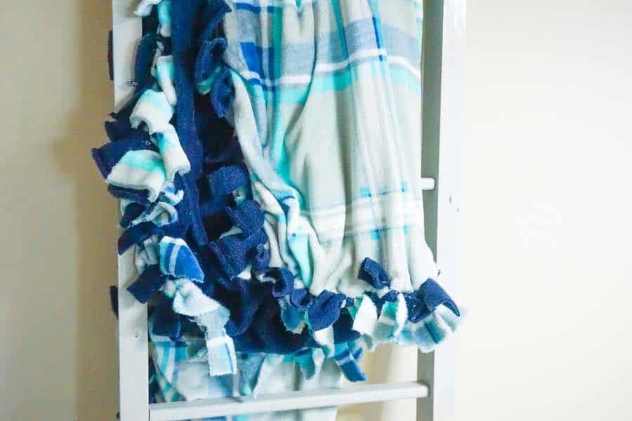 Completed No sew fleece blanket