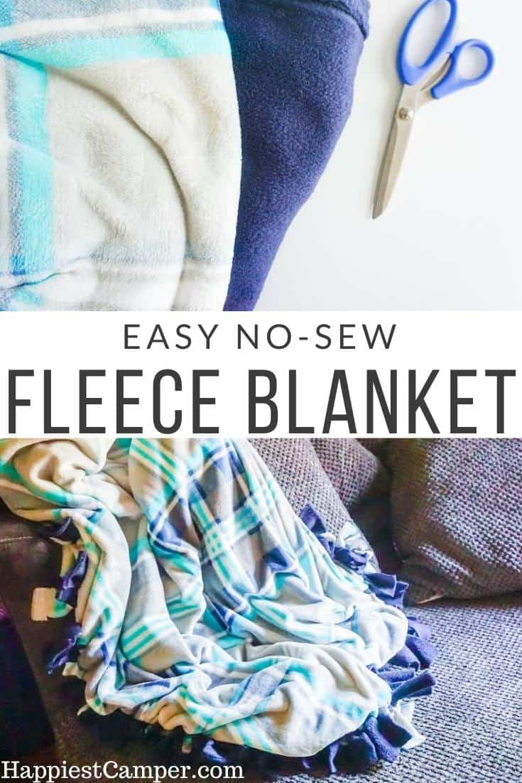 Image of: How To Make A No Sew Fleece Blanket