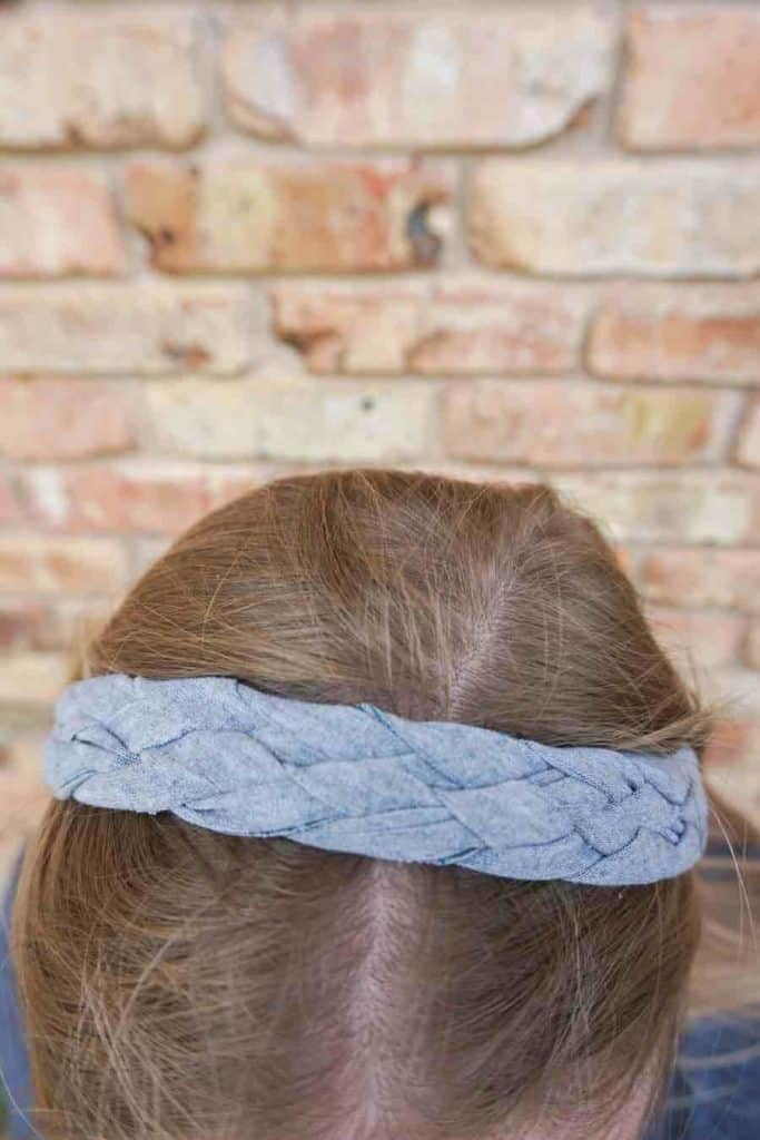 Completed No-Sew fabric braided Headband