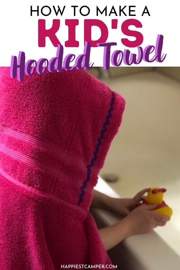 kid's hooded towel tutorial