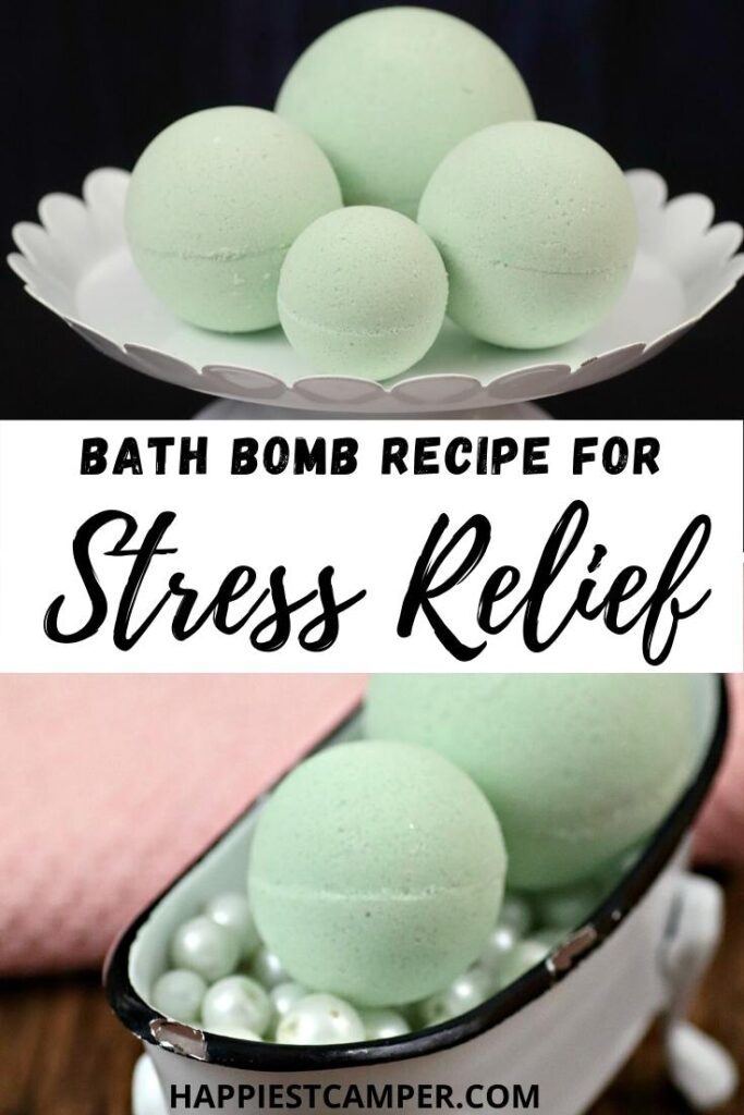 DIY Bath Bomb Recipe For Stress Relief