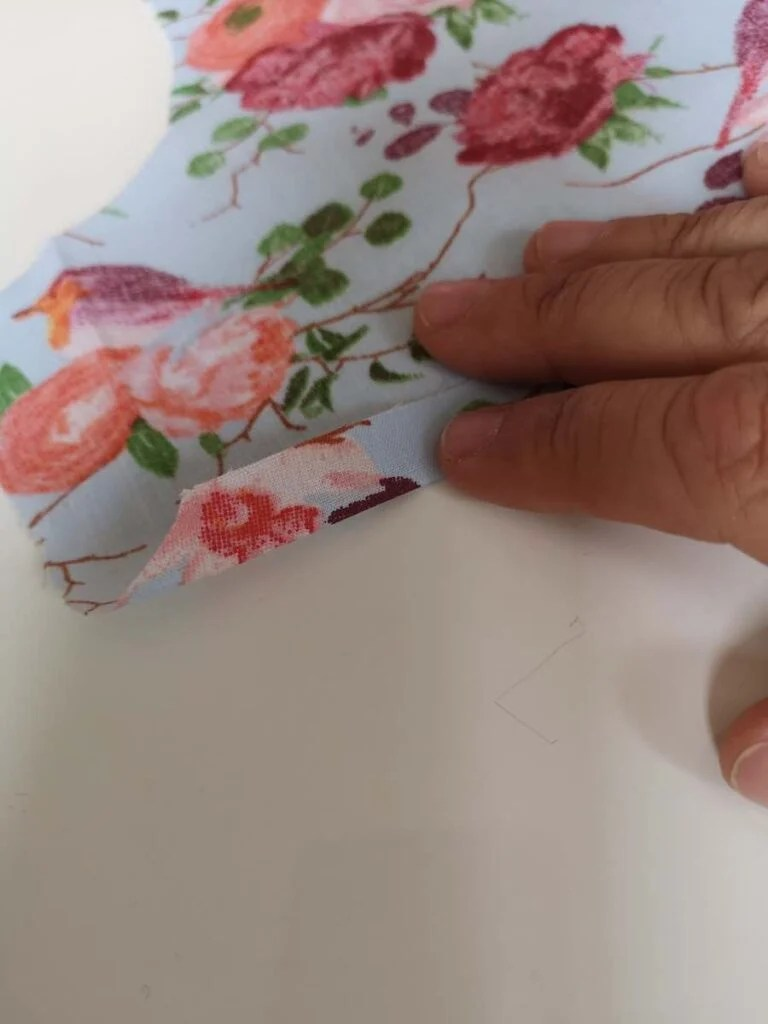 Fold the bottom up 1 cm twice