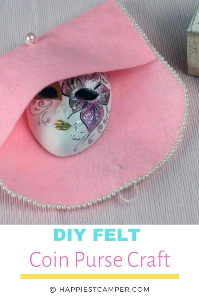 Finished DIY Felt Coin Purse