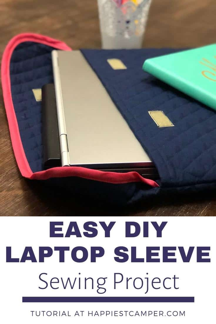 Easy DIY Laptop Sleeve Sewing Project